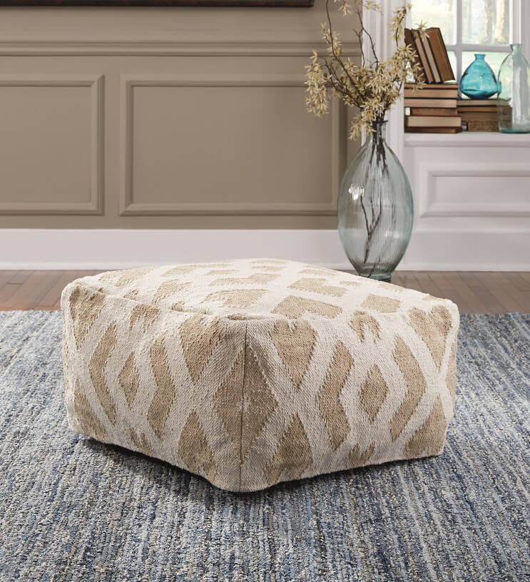 Traditional cream pouf