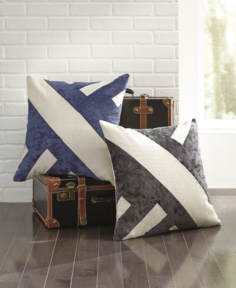 Modern sense of warmth with the Ambrea two tone pillow