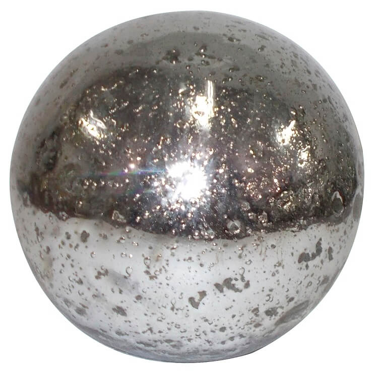 Silver glass sphere